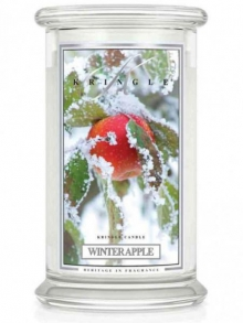 - Vonná svíčka Kringle Candle WINTER APPLE velká 624g