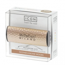 - Millefiori Milano ICON METAL SHADES vůně do auta INCENSE BLOND WOODS