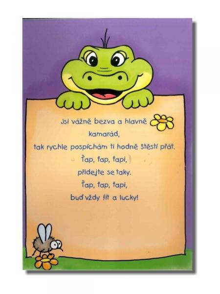 dětská přání k narozeninám texty Ditipo hrací přání k narozeninám CHŇAPÍK, MALIČKÝ KROKODÝL/Petr  dětská přání k narozeninám texty